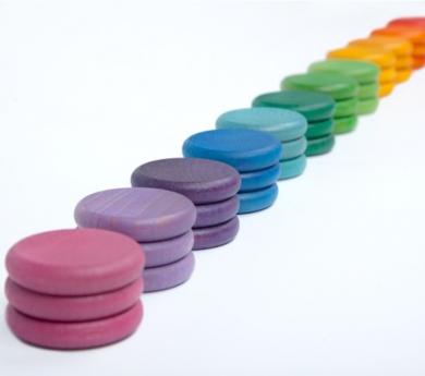 Monedas de colores