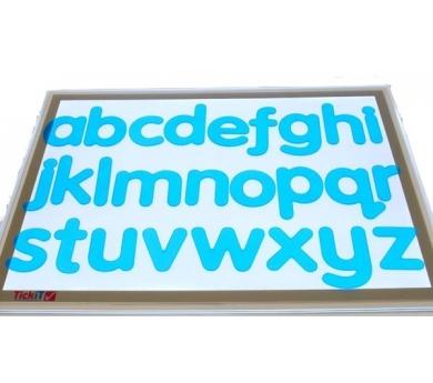 Letras minúsculas de silicona translúcidas