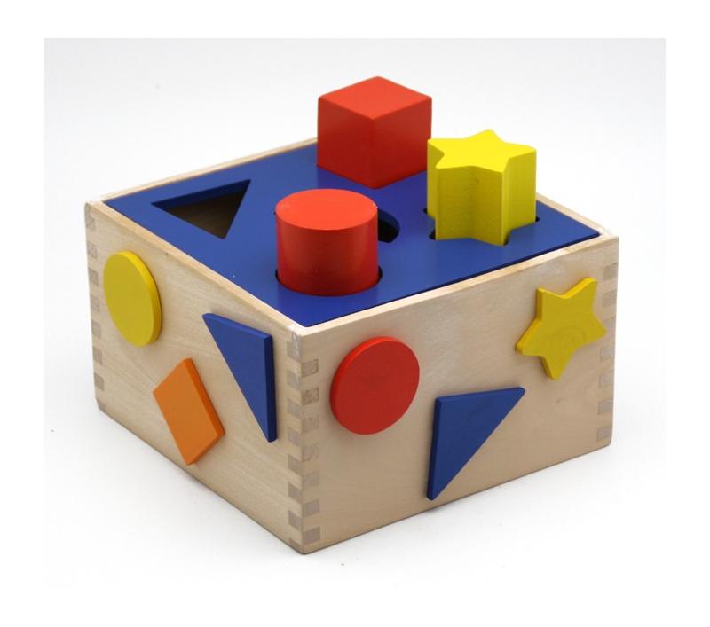 Caja de formas y colores para encajar for Caja de colores jardin infantil