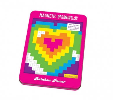 Píxeles magnéticos arco iris