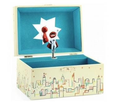 Caja de música superhéroe
