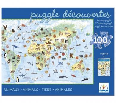 Puzzle los animales del mundo