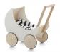 Cotxet de fusta per a nines White