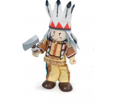 Vaqueros e indios articulados de juguete