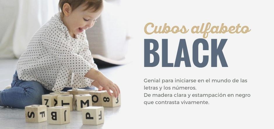 Cubos alfabeto black