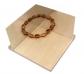 Mirall cantoner amb base de fusta