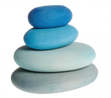 Piedras de madera tonos azules