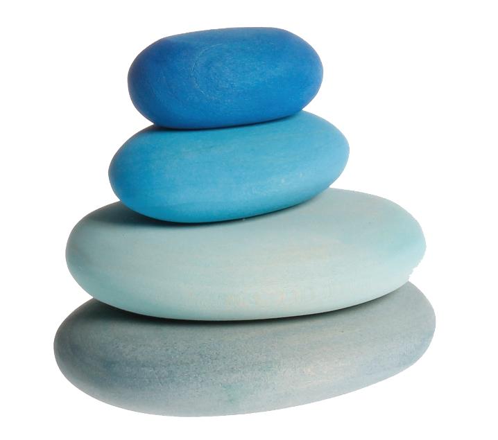 Pedres de fusta tons blaus
