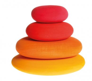 Piedras de madera tonos rojos