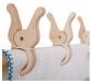 Pinzas gigantes de madera