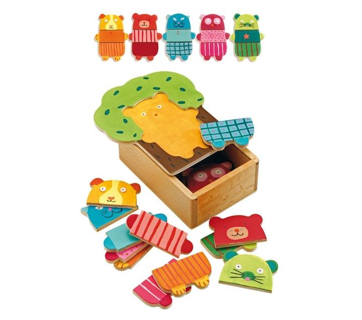 Puzzle de muñecos para vestir