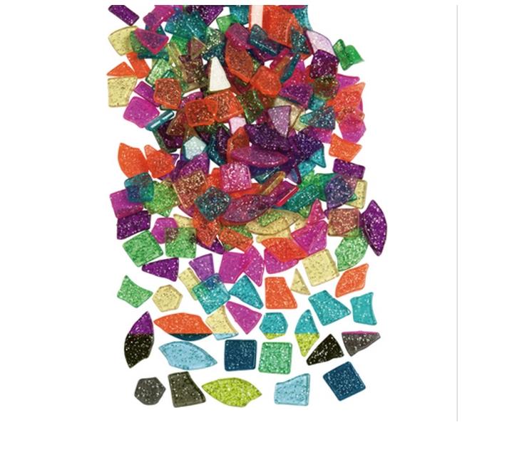 1000 Peces translúcides petites amb purpurina