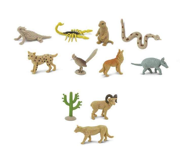 Animales del desierto de juguete
