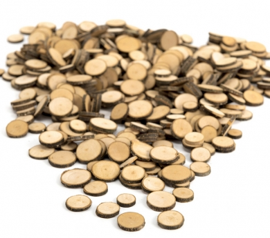 Cercles de fusta amb escorça