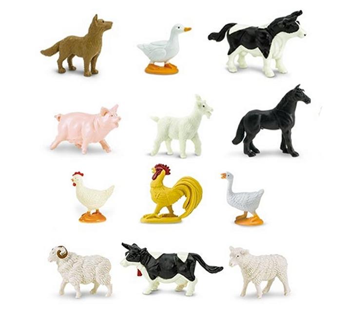 Animales de granja de juguete