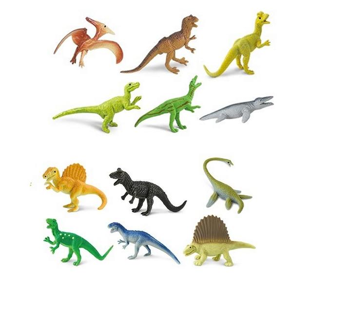Dinosaures carnívors de joguina