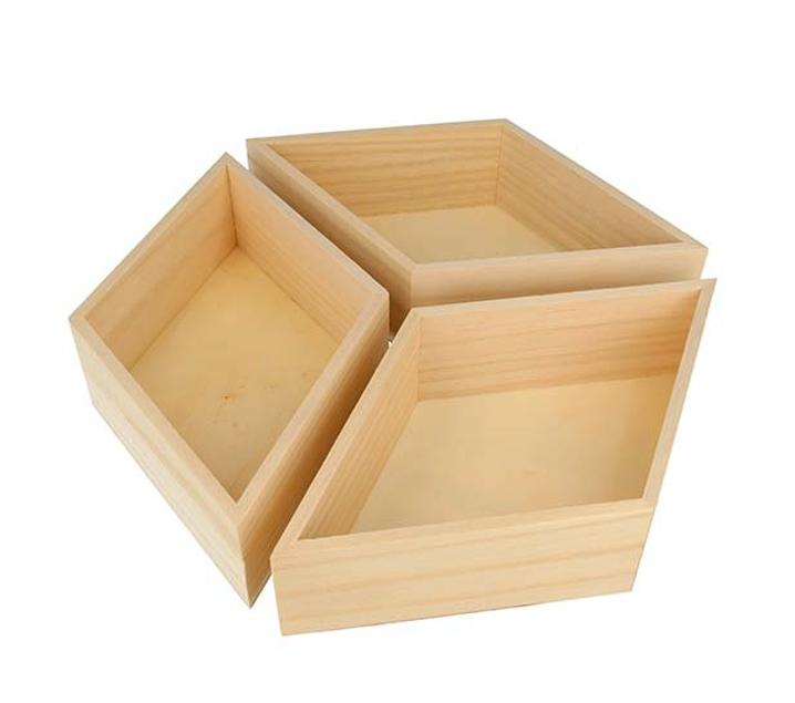 3 safates de fusta diamant