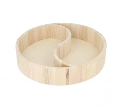 Bandeja de madera Ying Yang