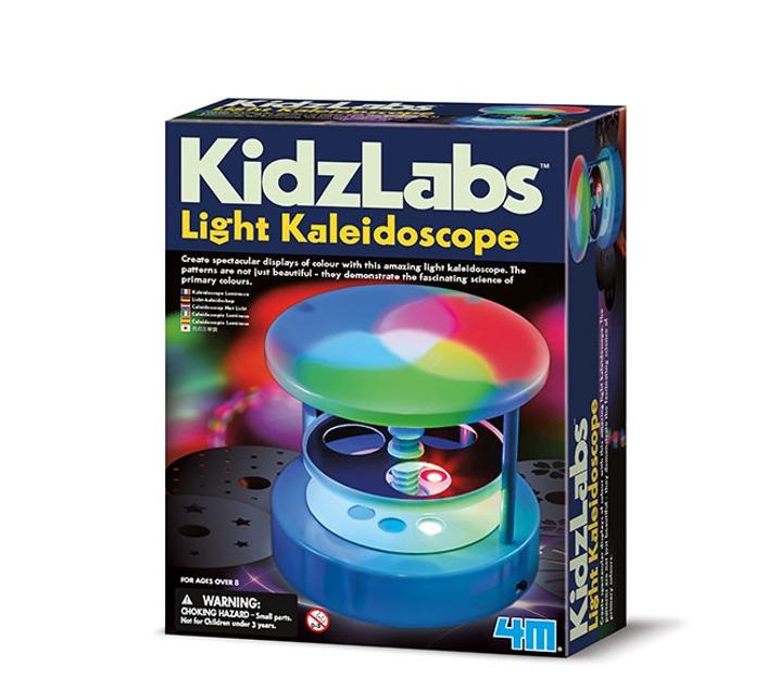 Kit para construir un caleidoscopio con luz