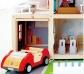 Coche de juguete de madera para muñecos articulados