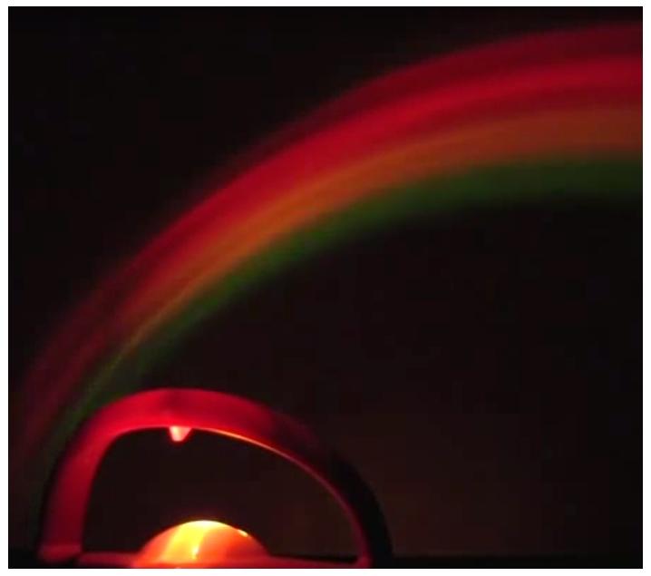 Proyector arco iris más bola de feng shui