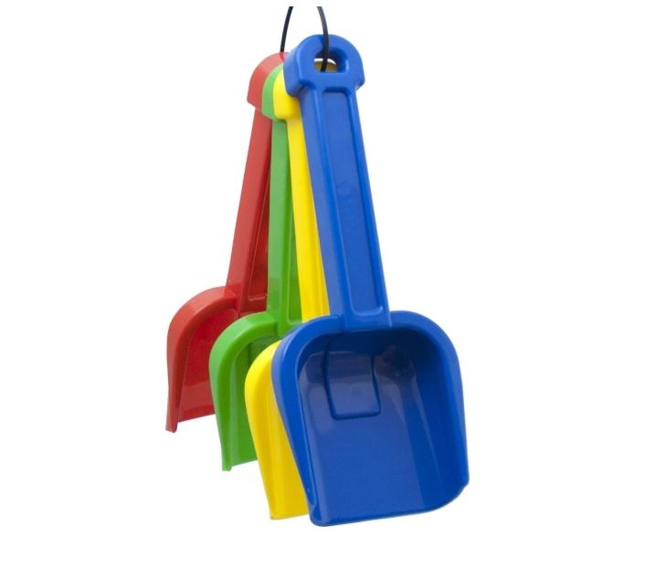 Conjunto de 4 palas de plástico