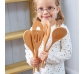 5 cucharas y palas de madera reales