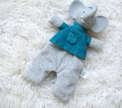 Doudou Alvin de caucho natural y algodón