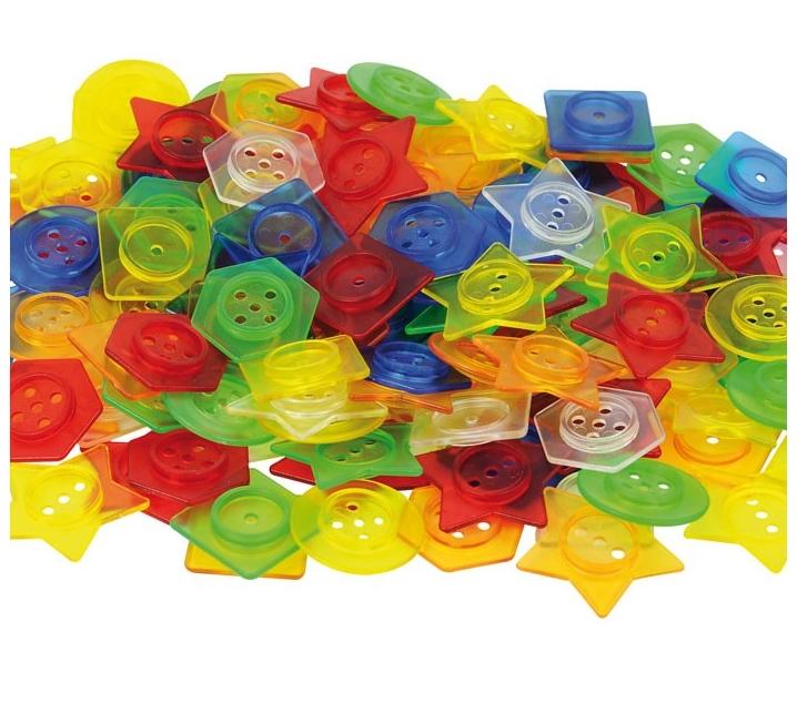 Botones translúcidos encajables y translúcidos