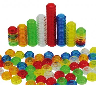 500 comptadors apilables translúcids