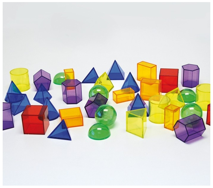 36 sòlids geomètrics translúcids