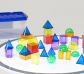 36 Sólidos geométricos translúcidos