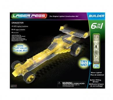 Construcció amb llum 12 en 1 Race car