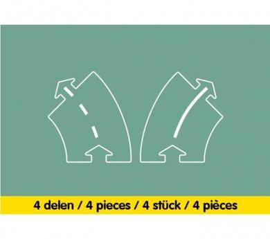 Carretera flexible extensió corves