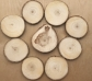 10 círculos de madera natural 10 cm.