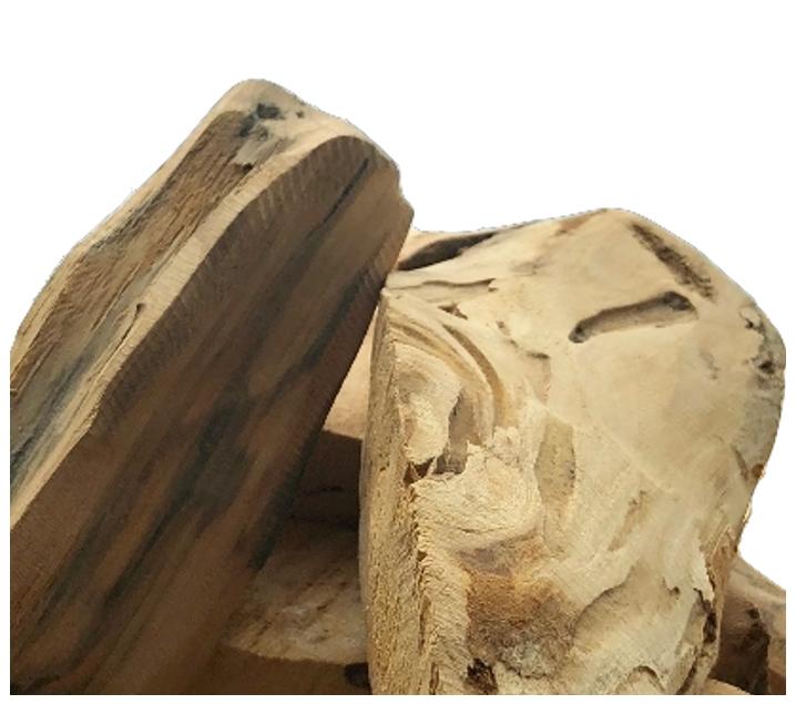 Trozos ligeros de tronco 500 g.