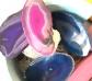 5 Rebanadas de Agata de colores