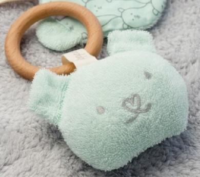 Anilla mordedor de algodón orgánico