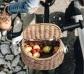 Bolso y cesta de vímet natural para bicicleta