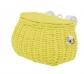 Bolso y cesta de mimbre para bicicleta amarilla