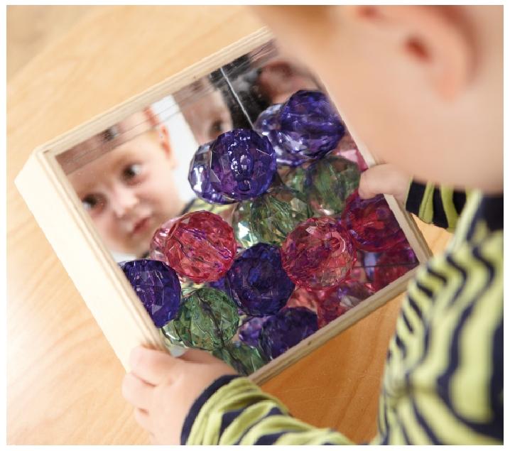 Cubos con espejo encajables y apilables