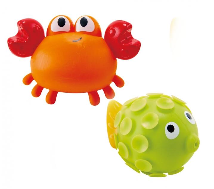 2 juguetes salpicadores para la bañera