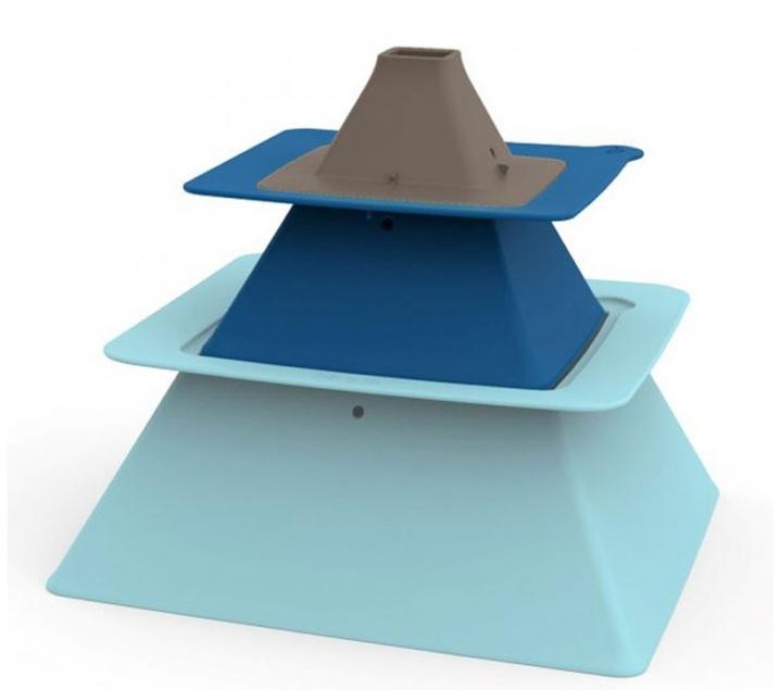 Cubos para castillos Pirámide