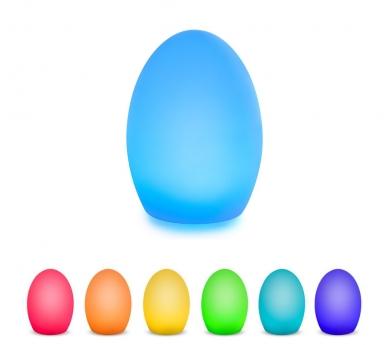Làmpada ou amb canvi de colors
