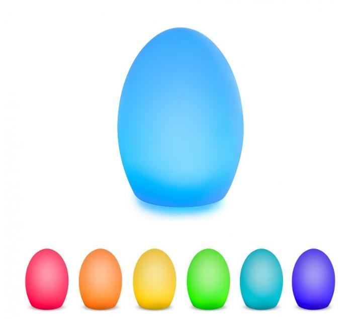 Lampara huevo cambia color