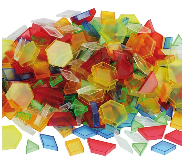 180 Bloques geométricos pattern blocks translúcidos