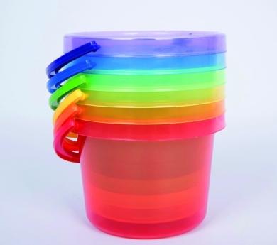 6 Cubos translúcidos arco iris