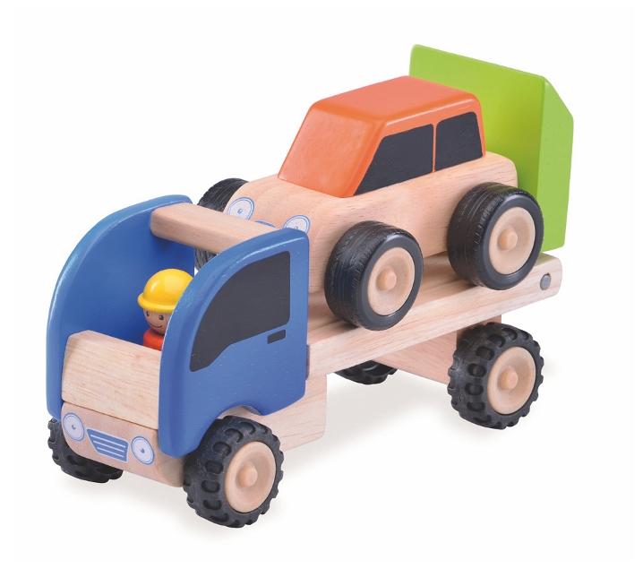 Grúa con rampa y coche
