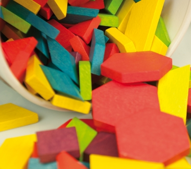 250 Blocs gomètrics - pattern blocks