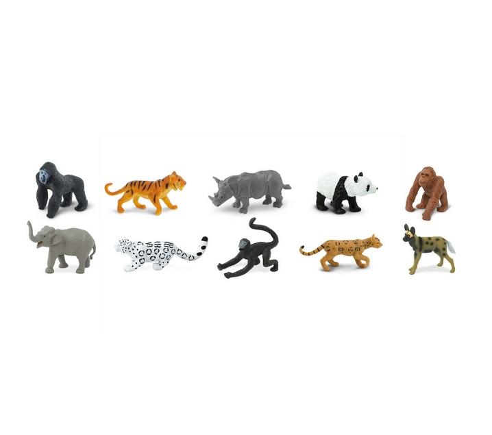 Animales en peligro de extinción de juguete